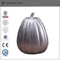 decorative resin craft harvest silver pumpkin