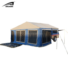7ft canvas camper trailer tent with 2 auto gas struts