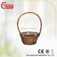 basket with plastic liner basket with handle, new products, water proof baskets