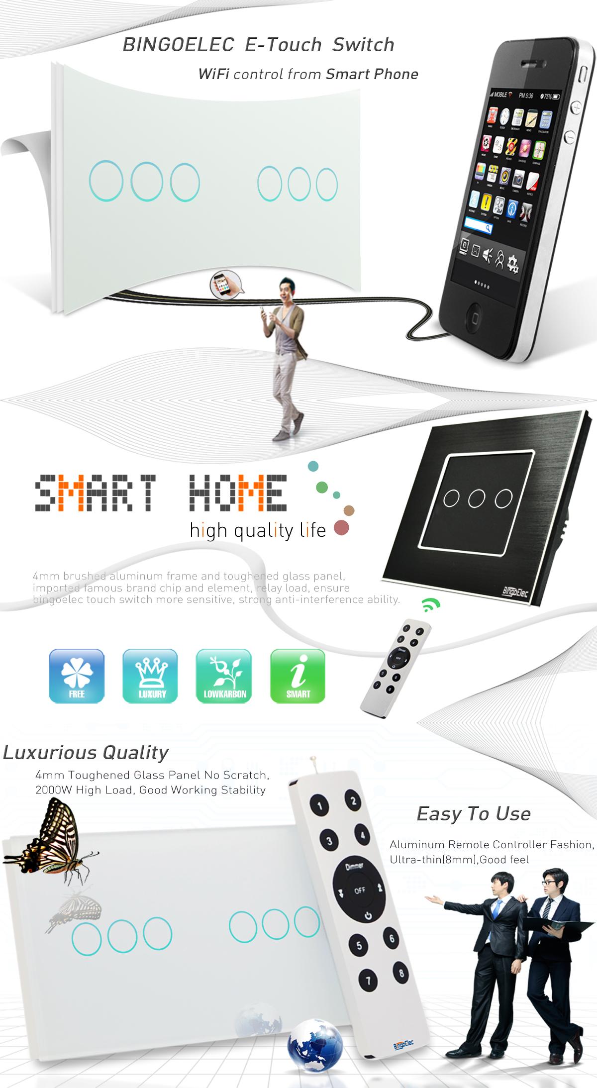 Yiwu Binge Electrical Co., Ltd. - Touch Switch, wall switch