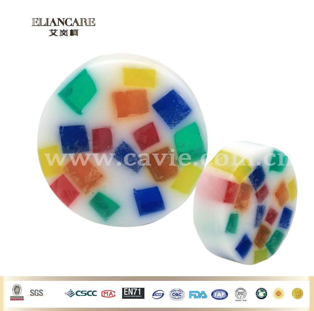 Wholesale 100g Colorful Round Transparent Jelly Bath Soap