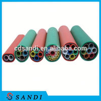 HDPE 7 ways 10/8mm direct buried micro duct pipes for fiber optic cable installation