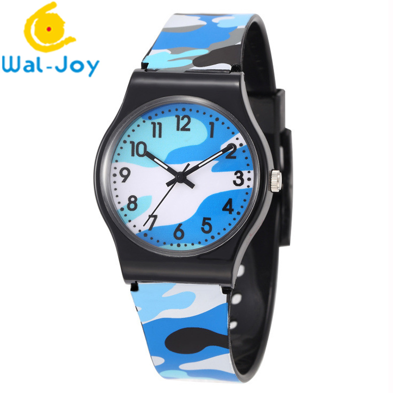 WJ-3958 fashion kids children camouflage plastic watch