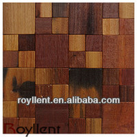 320x320mm Ancient Boat Wood Mosaic/old ship wood brilliant mosaic tile