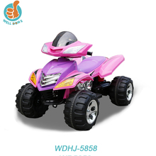 Hot selling battery operated car, with music and led light, four wheel suspension and remote control kids motorcycle WDHJ-5858