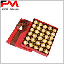 Customized chocolate bar packaging box wholesale