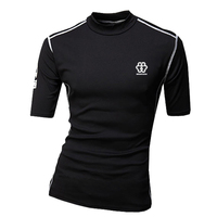 New men's tights jersey supply fast drying short-sleeved fashion T-shirt