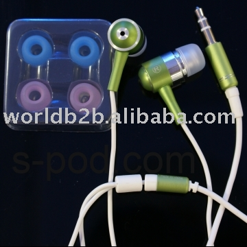 Colorful earphone for iphone New iSolate Vibe Earphone for iPod/iphone/mp3 player,Metal Green,headphone,wireless headphone,etc.
