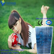 50W Customized size polycrystalline solar panel lowest price for Pasistan triple junction solar cell