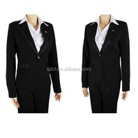 Hot sale office lady uniform suits ladies corporate uniform