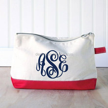 Wholesale Monogrammed Canvas Cosmetic Case