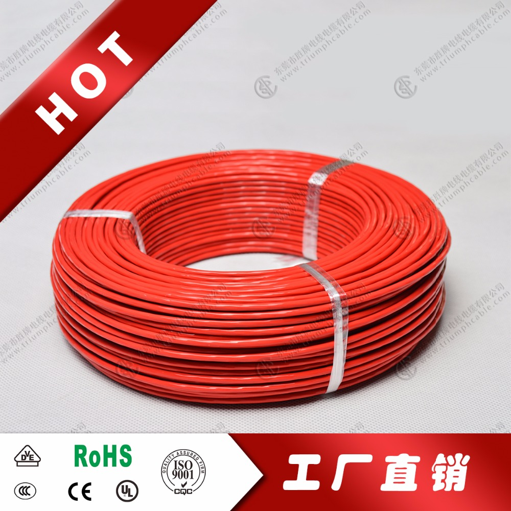 teflon insulated stranded copper wire 0.2mm2 high temperature resistant wire