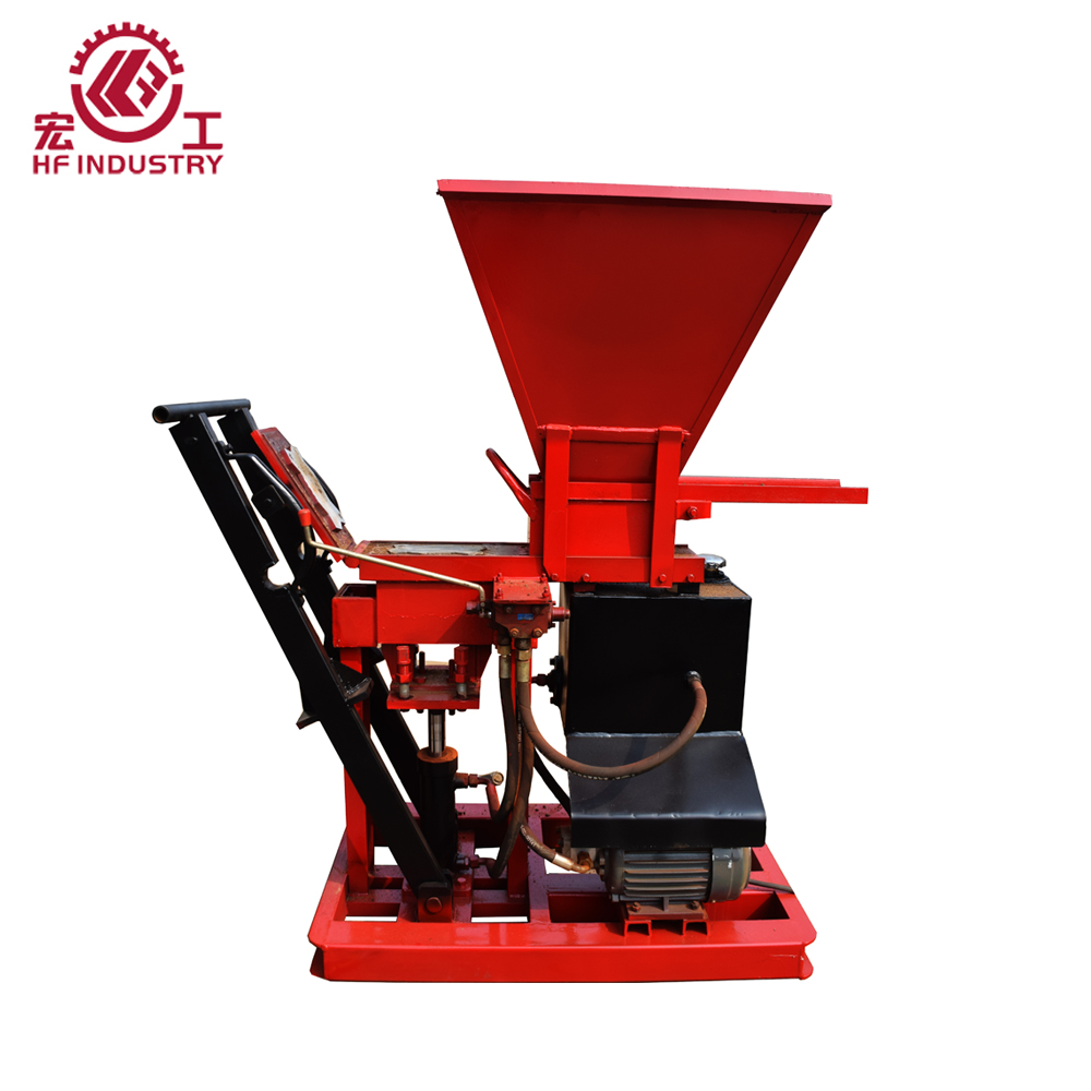 HF1-25 brick making machine eco brava price, semi automatic interlocking brick making machine