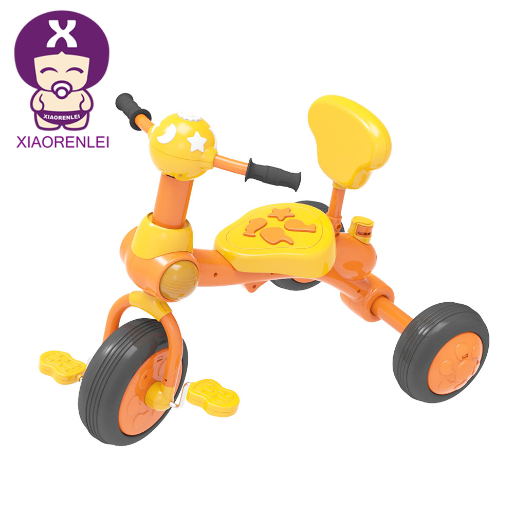 Wholesale Unisex Easy Steer Safety Musical Kids 3 Wheel Tricycle