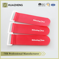 plastic buckle magic hook and loop strap cable tie