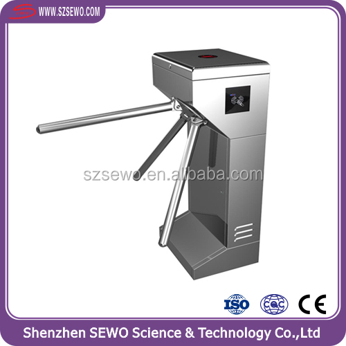 2016 High Quality Security Access Control Gates Tripod Turnstile with Fingerprint