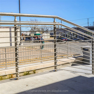 roof deck railings design/stainless steel balcony railing price per meter