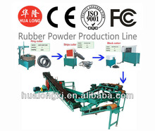 2014 new type the best and cheapest no pollute waste tire recycling machine price of crumb rubber