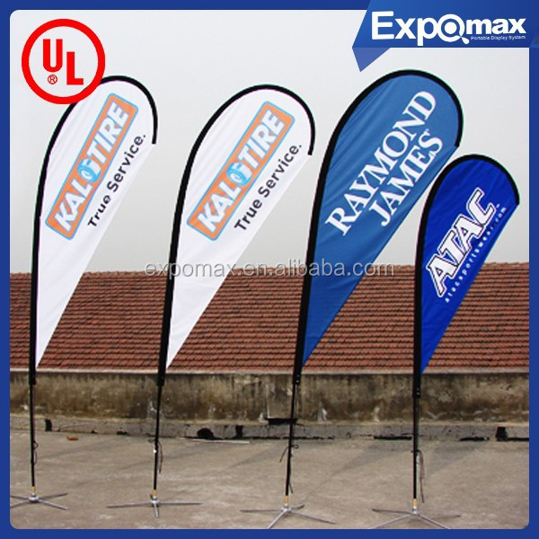 4.5m Teardrop flag with cross base magnetic base flag