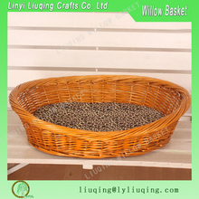 Handmade oval honey Wicker dog bed/ Wicker baskets for dogs/Wicker pet baskets