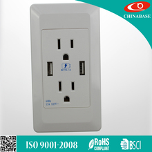 china manufacture 220v 2.1a usb wall outlet USA