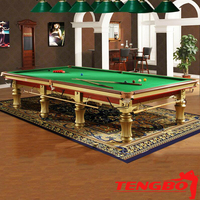 National game English style TB-UK004 gold snooker table price