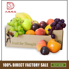 Custom made beautiful recyclable square fruit karton packing box