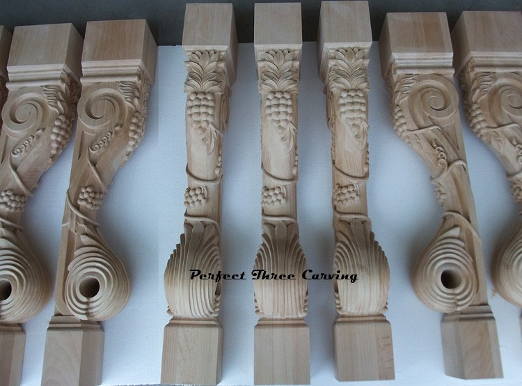 Quality Grapevine Carved Island Post/Leg ISP-02