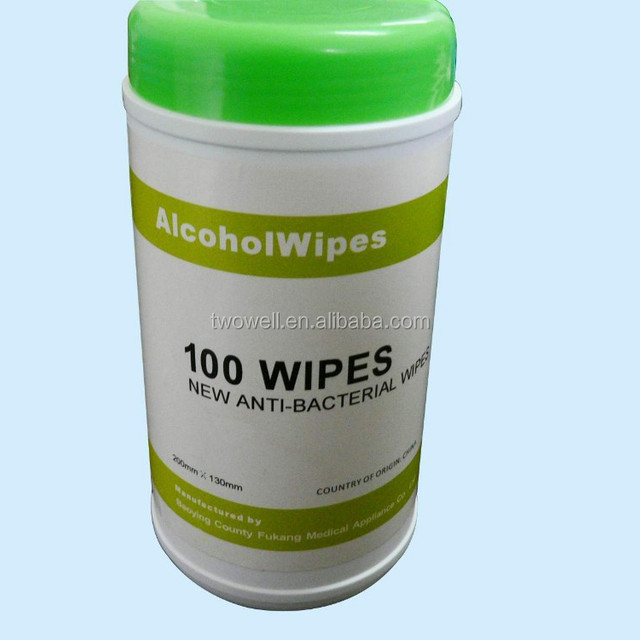 alcohol cleaning wet wipe plastic tubes