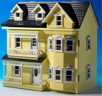 1:12 Scale Villa Stylish Fancy Wooden Toy Doll House For Kids (QW60320)