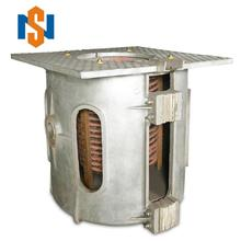 1 Ton China manufacture Aluminum structure titling type scrap steel medium frequency induction furnace