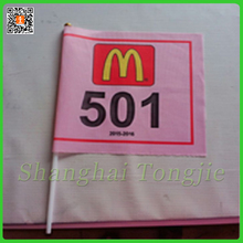 Customized Waving Country or Company Logo Printing Polyester Hand Flag