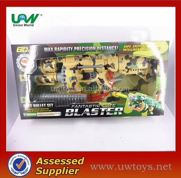 child electric military toy gun with soft bullets