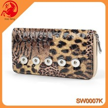 New Arrival Interchangeable Jewelry For PU And Leather Woman Wallets Press Snap Button Jewelry Lady Wallets In stock