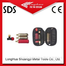 good quality new design first aid tool kit with co2 gas cylinder cartridge for car,bicycle,motorcycle from factory