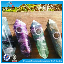 HJT fancy crystal and crystal amethyst cluster smoking pipes for tobacco