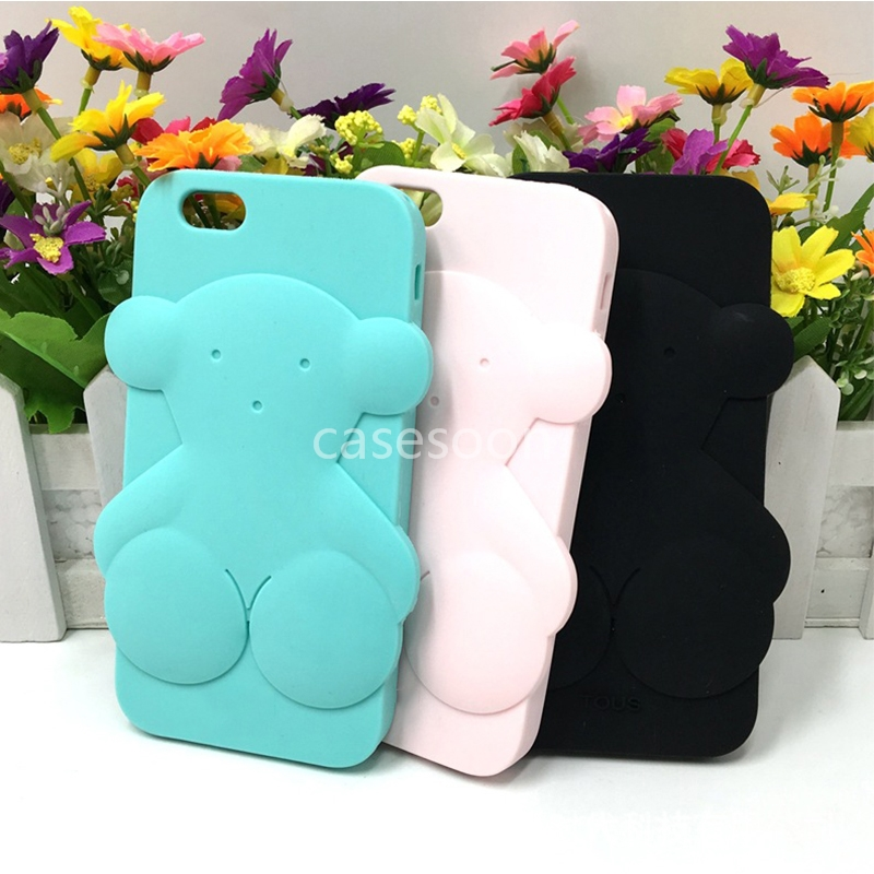 New Silicone Case For bear back cover case for 6 6 <strong>plus</strong>, Silicone Cases for iPhone 6