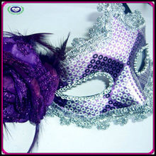 top sale purple adult sex mask for women carnival mask party manufacturer