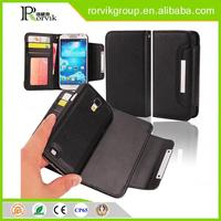 2 in 1 cell phone case wallet lychee PU leather case for Samsung Galaxy S4