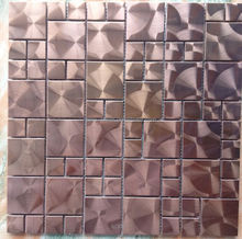 aluminum composite panel mosaic/ glass and metal mosaic tile/ metal backsplash
