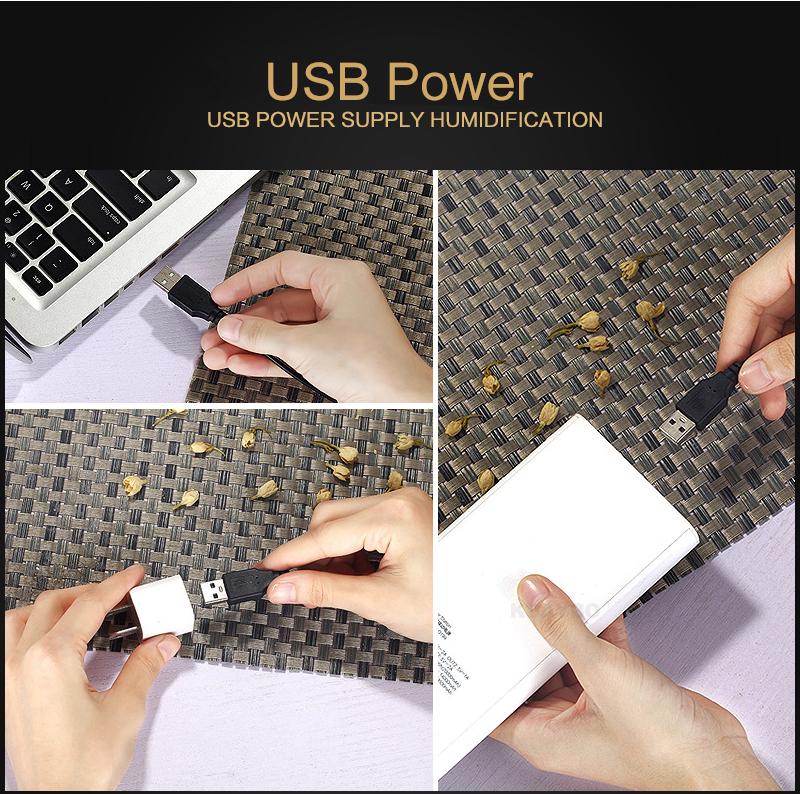 Diffuseur d'huiles essentielles USB KBAYBO bois, aromathérapie, se branche à n'importe quelle ordinateur