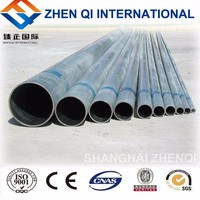 alibaba website High Quality Hot Dipped Galvanized Round Steel Pipes For Fence Post/greenhouse