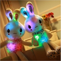 HI CE latest wholesale light up musical pink rabbit plush toys my lovely doll toy for sale
