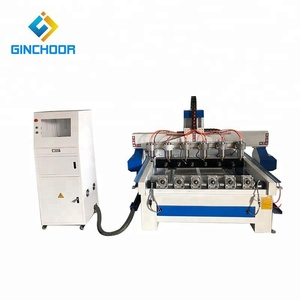 Six heads 1325 cnc router machine in india