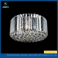 Elegant design splendid top 1 Chinese crystal ceiling luminaire for living room