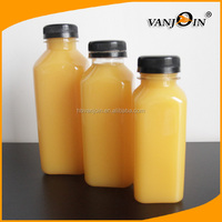 Empty 500ml 250ml custom plastic beverage bottles for pressed fresh juice