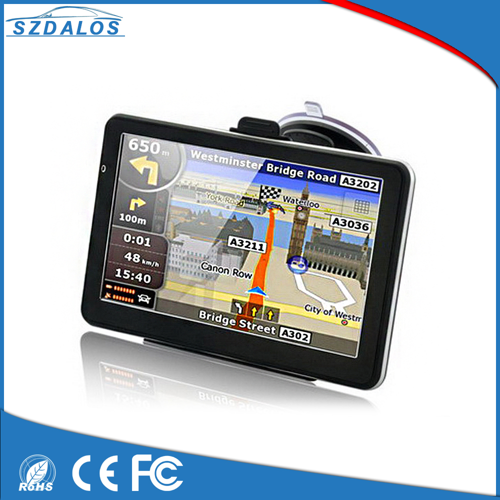 Support 2D and 3D map over world MTK MSB2531 800MHZ 7 inch TFT LCD display resolution 800*480 mediatek portable gps navigation