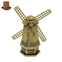 Factory custom made antique bronze metal windmill model