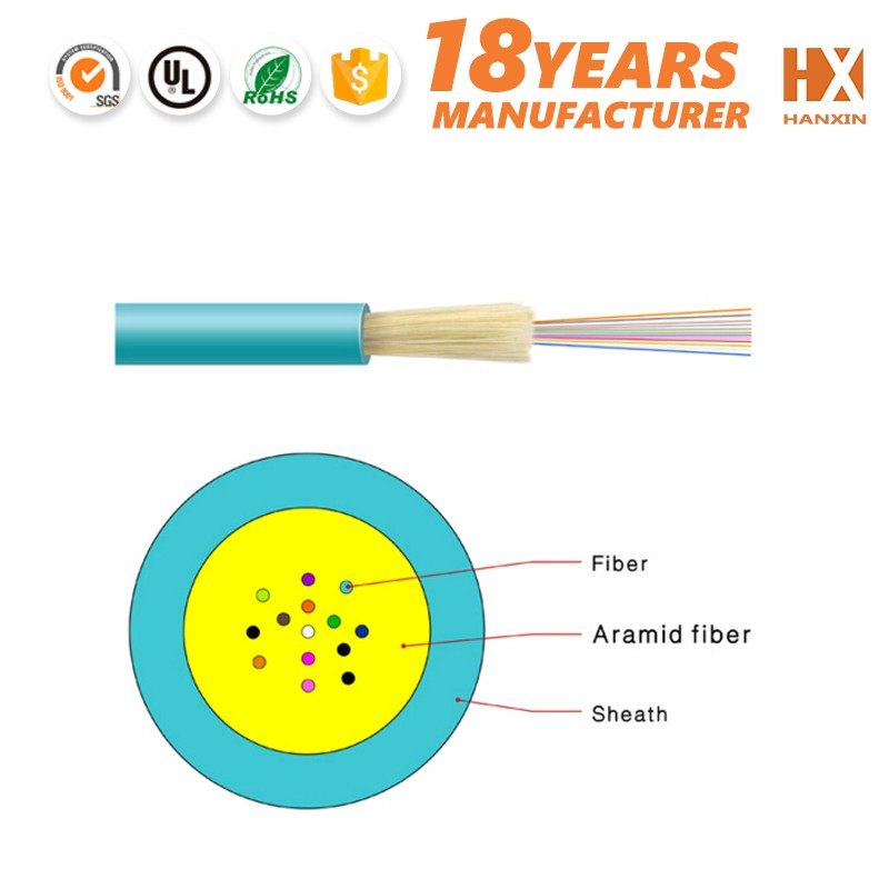best price low attenuation GJFV 12 core multi mode fiber optic cable
