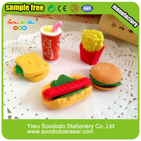 High Imitation Custom Rubber Food Shaped Cheap Eraser